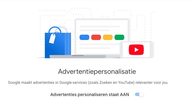 Google advertentiepersonalisatie